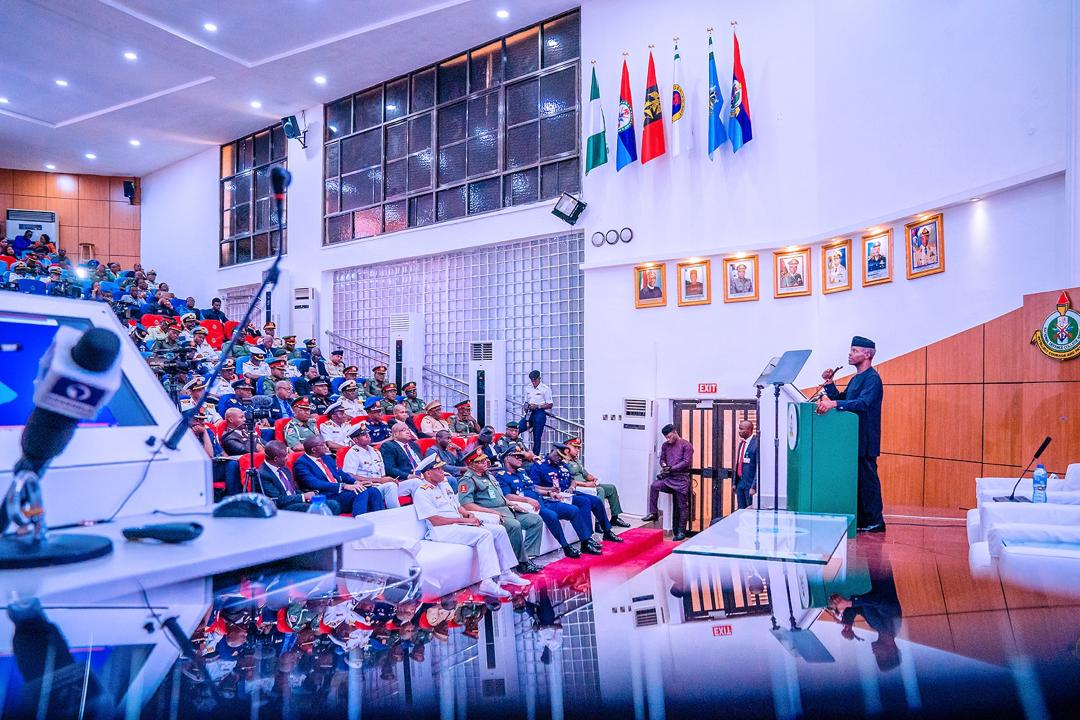 VP Osinbajo Attends National Defence College, Course 28 Lecture On 31/01/2020