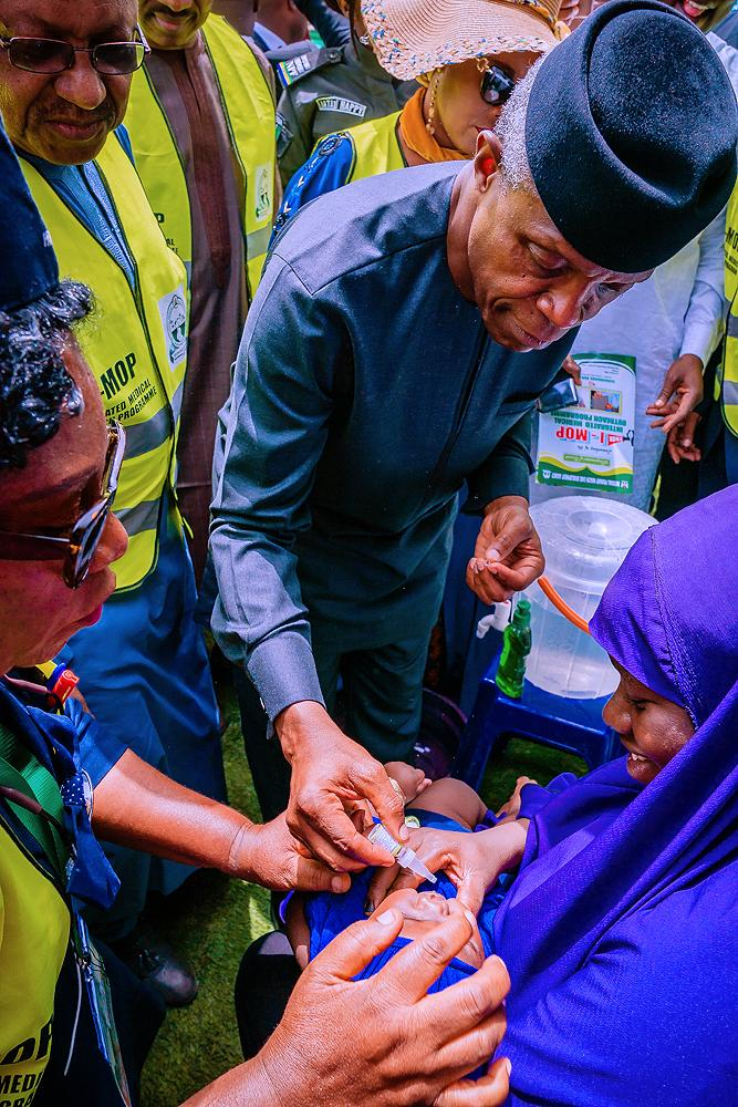 VP Osinbajo Represents President Buhari At The Nationwide Integrated Medical Outreach Programme On 16/03/2020