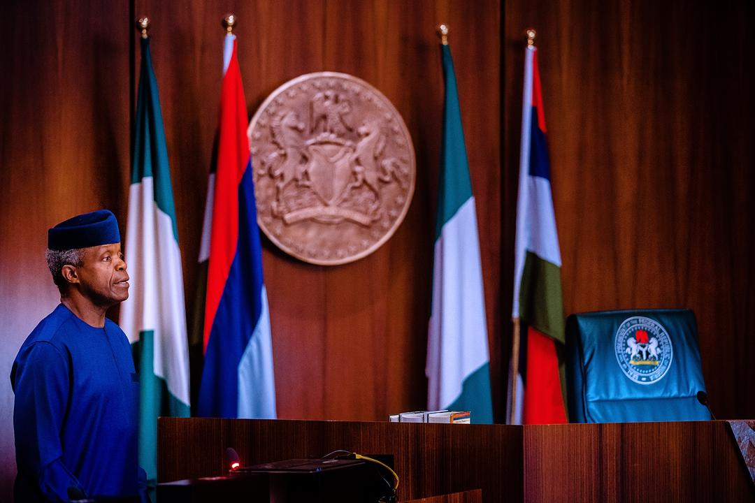 VP Osinbajo Presides Over The National Economic Council Meeting On 19/03/2020