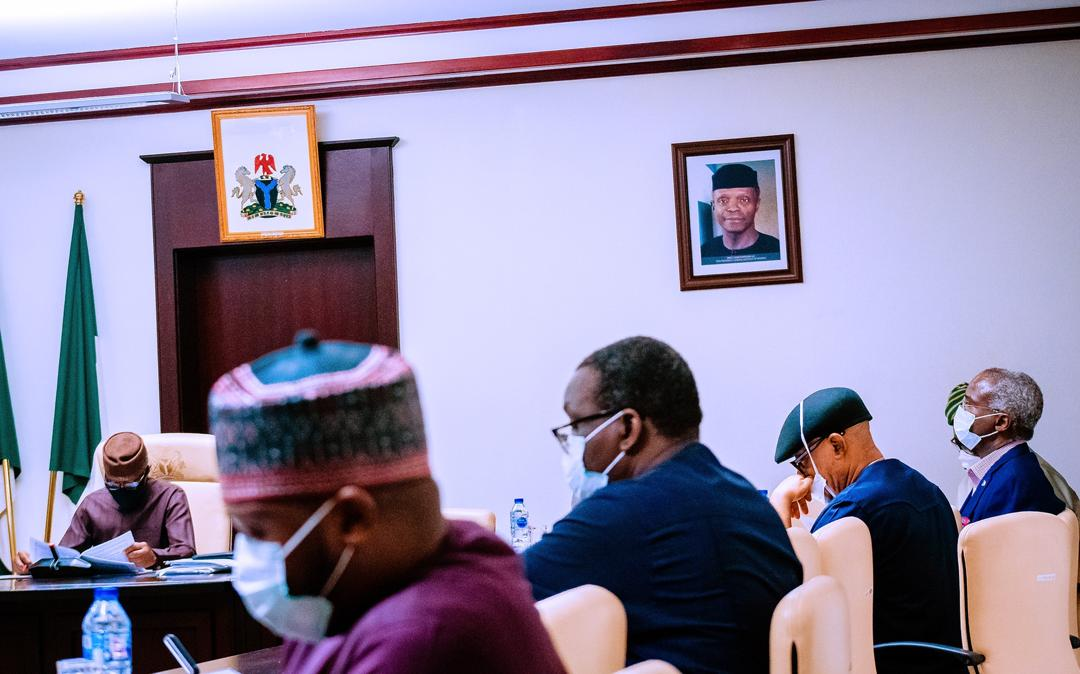 VP Osinbajo Chairs 4th Economic Sustainability Committee Meeting On 23/04/2020