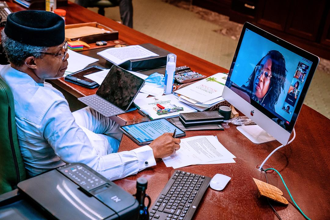 VP Osinbajo Features In A Virtual Conference Organised By Africa.Com Themed