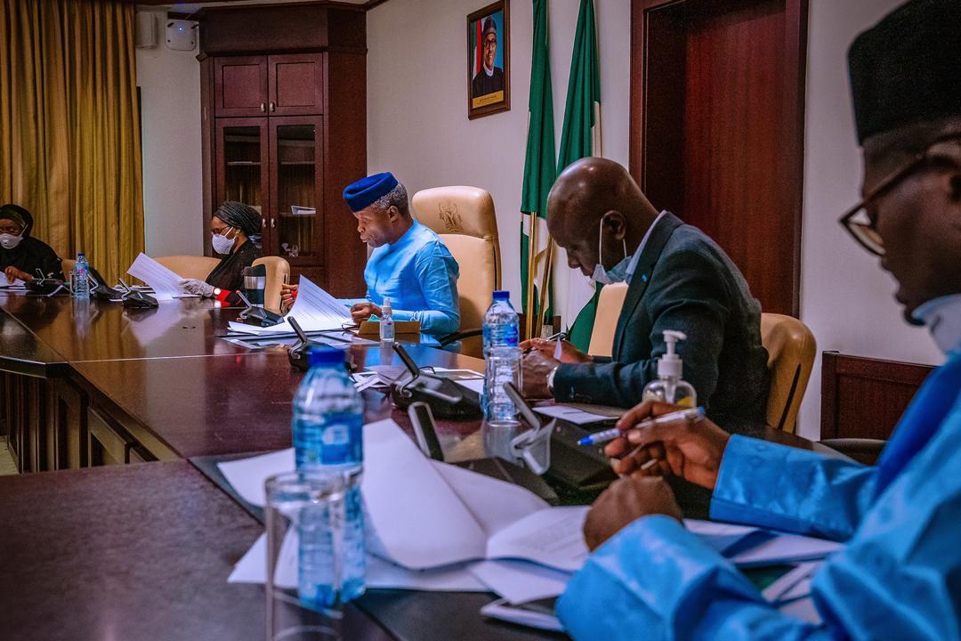 VP Osinbajo Inaugurates The Economic Sustainability Committee On 02/04/2020