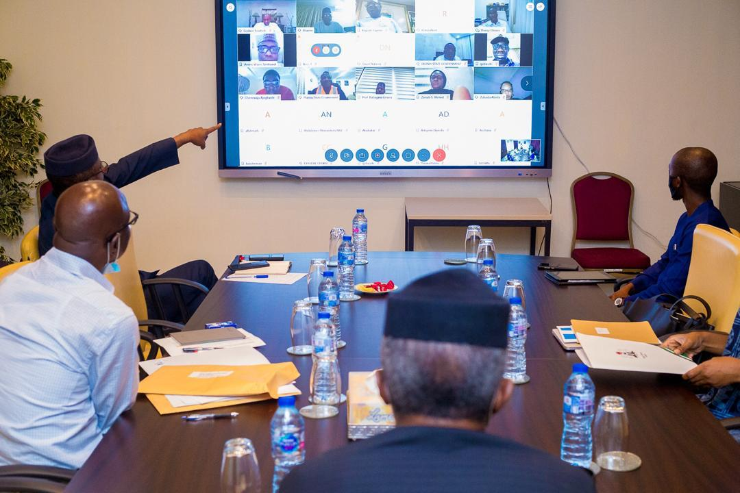 VP Osinbajo Held Videoconference Meeting With 9 Governors Across The 6 Geopolitical Zones Regarding Coordinated Plans Of FG & State Govts On COVID-19  On 22/04/2020