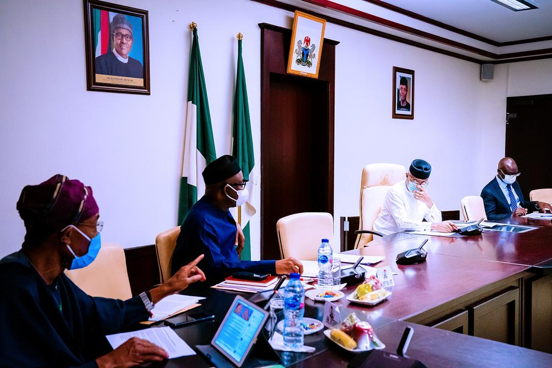 "VP Osinbajo Chairs Economic Sustainability Committee Meeting Focused On ""Nigerian Economy Functioning With COVID – 19"" Policy Plan On 27/04/2020"