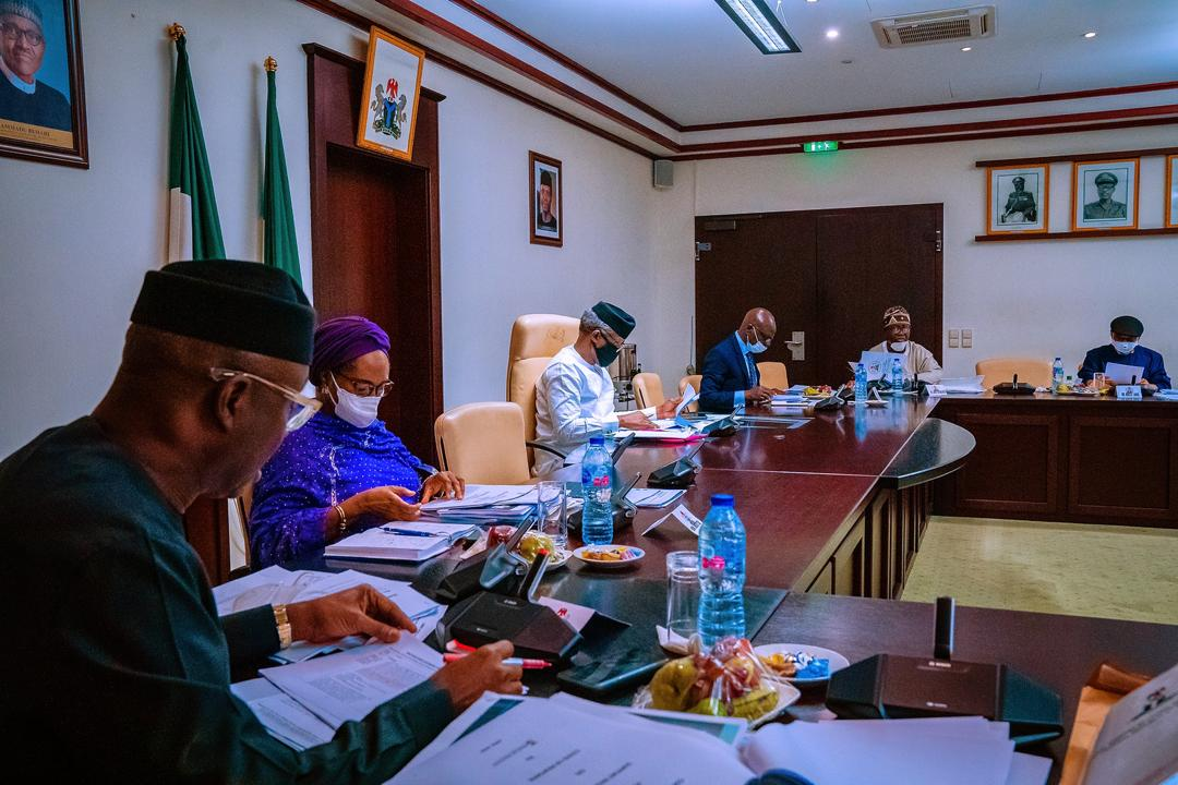 VP Osinbajo Presides Over The Economic Sustainability Committee Meeting On 08/04/2020