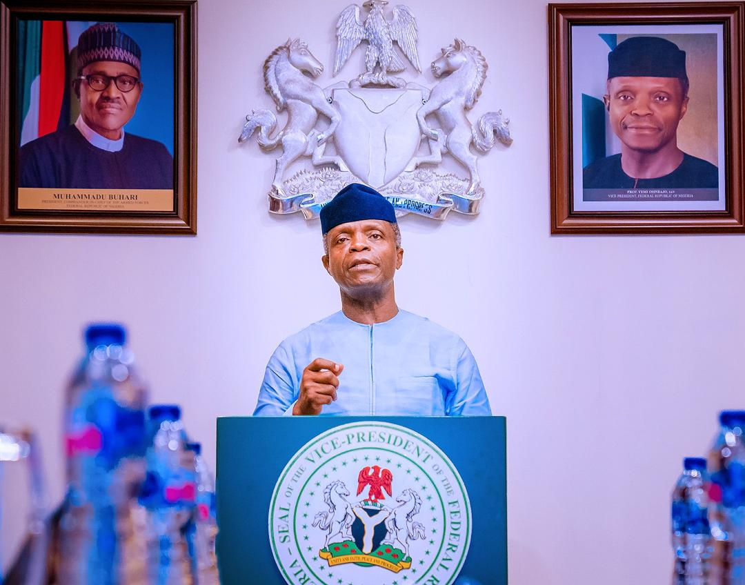VP Osinbajo Launches NAFDAC Palliatives For MSMEs On 15/05/2020