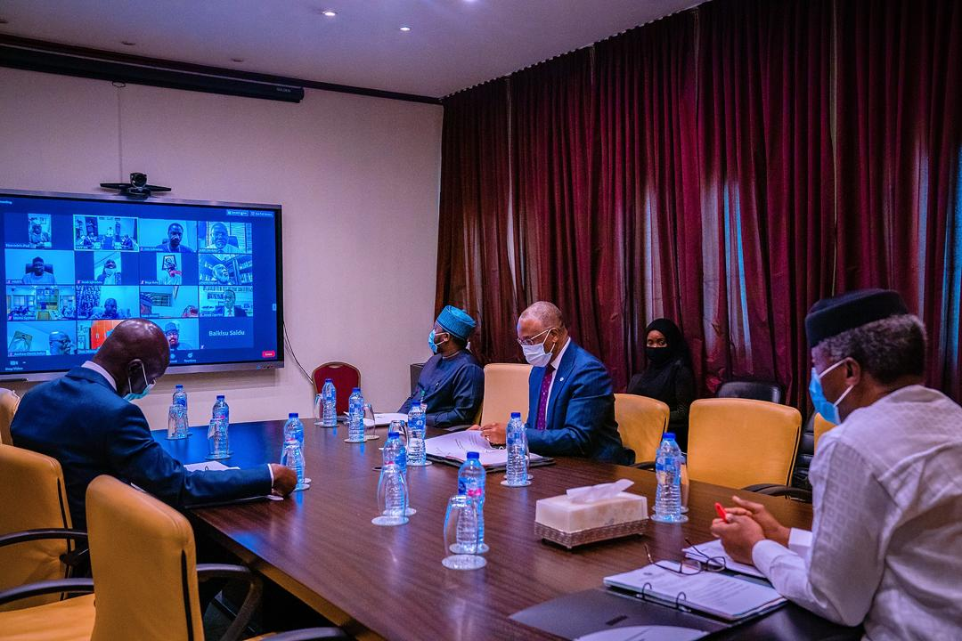 VP Osinbajo Presides Over Virtual Meeting Of National Council On Privatization On 19/05/2020
