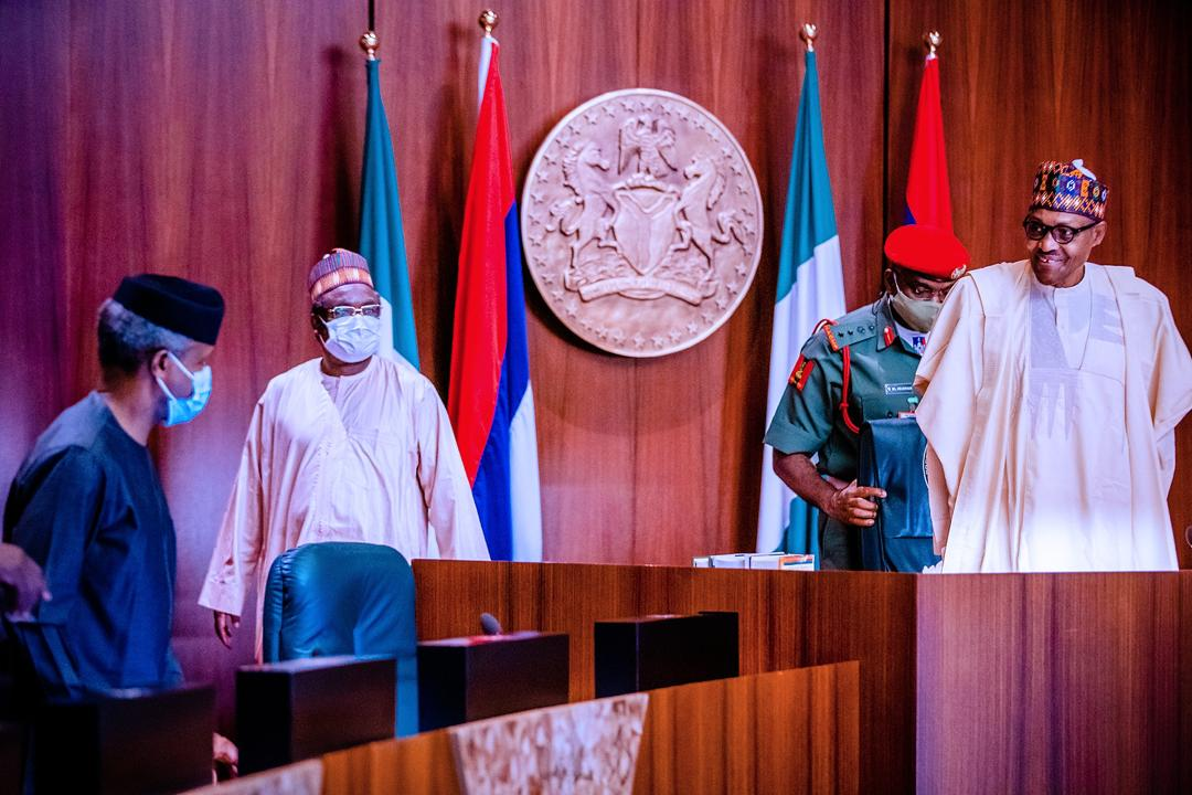 President Buhari Holds Virtual Meeting With APC Governors On 28/07/2020