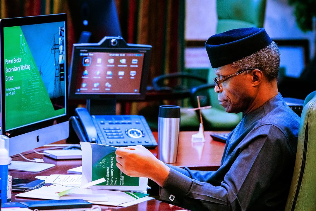 VP Osinbajo Presides Over Virtual Meeting Of The Presidential Power Working Group On 27/07/2020