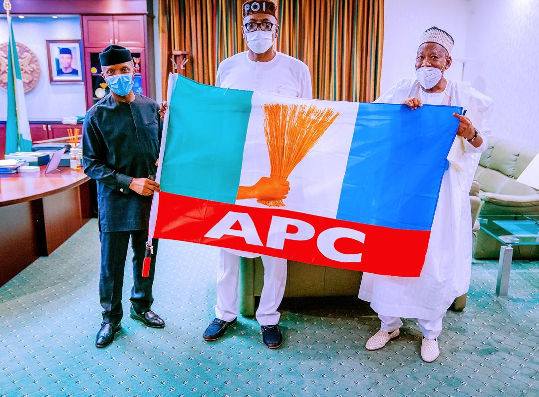 VP Osinbajo Receives APC Gubernatorial Candidate Pastor Eze Iyamu & Chairman Campaign Council, Gov. Ganduje on 07/08/2020