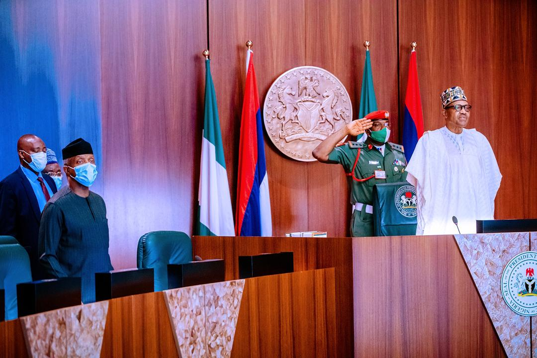 President Buhari Presides Over National Security Council Meeting On 04/08/2020