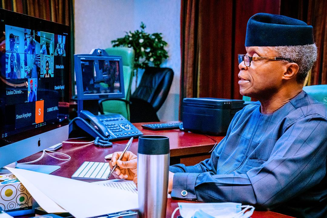 VP Osinbajo Chairs Virtual Meeting Of The Economic Sustainability Plan Implementation Team On 06/08/2020