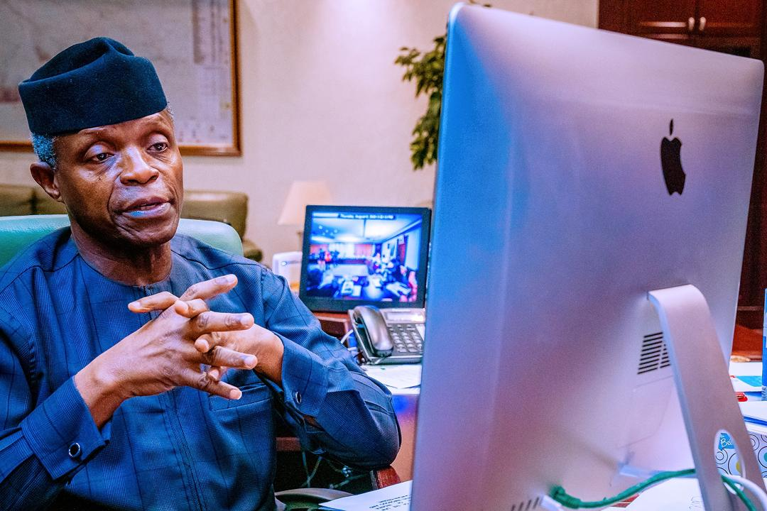 VP Osinbajo Attends Virtual Townhall Of Law Students Association Of Nigeria On 06/08/2020