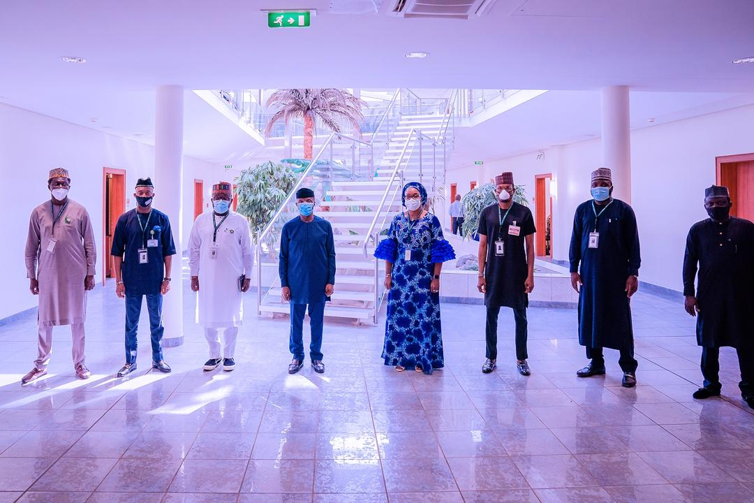 VP Osinbajo Meets With Executive Committee Of Young Parliamentarians Forum On 27/10/2020