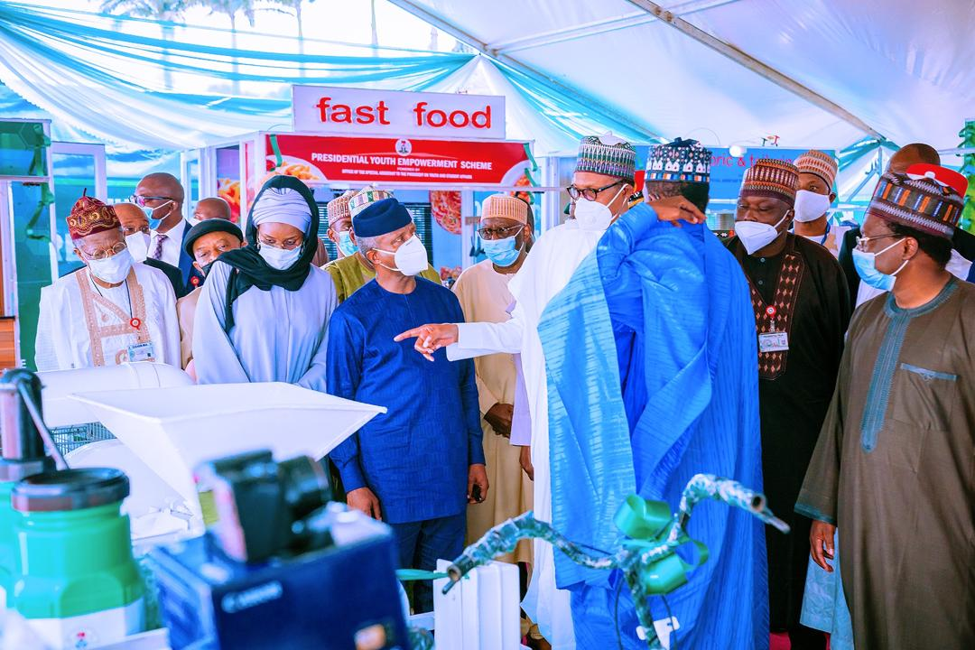 VP Osinbajo Attends Launch Of Presidential Youth Empowerment Scheme (P-YES) By President Buhari On 12/10/2020