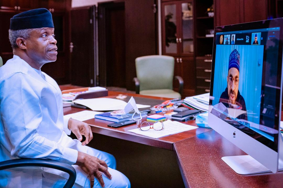 """VP Osinbajo At Virtual Edition Of NASFAT Global Youth Seminar Themed: """"A Unified, Peaceful and Prosperous Nigeria"""" On 01/10/2020"""