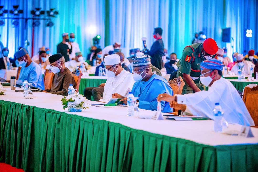 President Buhari Declares Open The 2-day Joint Executive – Legislative Leadership Retreat On 05/10/2020