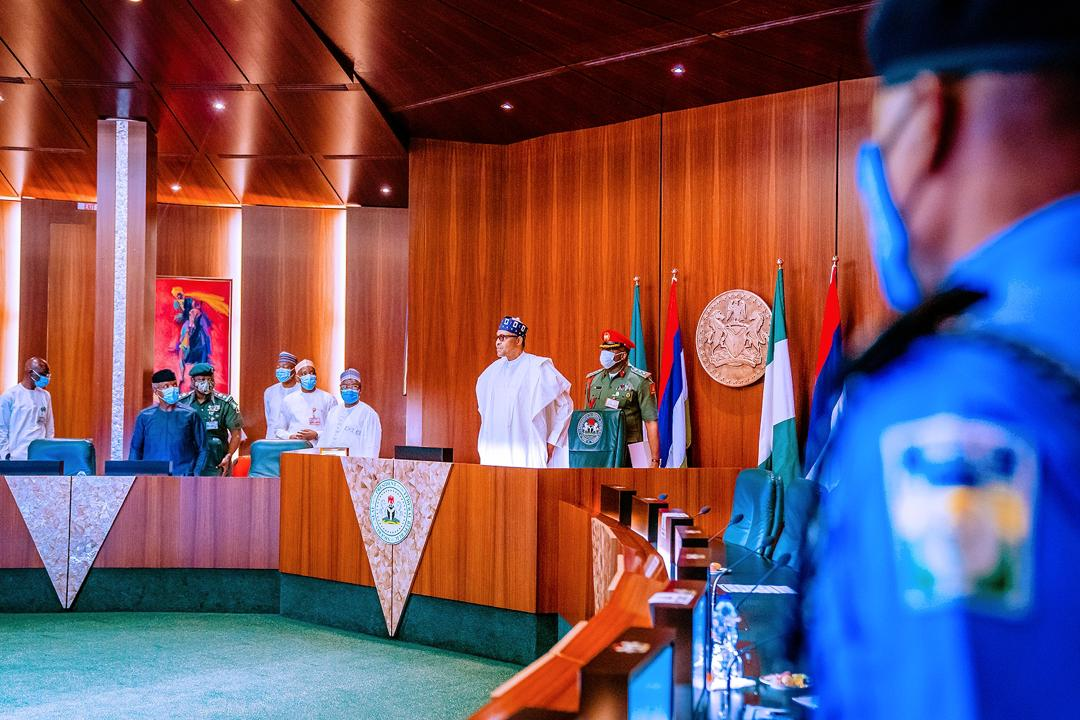 President Buhari Meets With Former Heads Of State On 23/10/2020