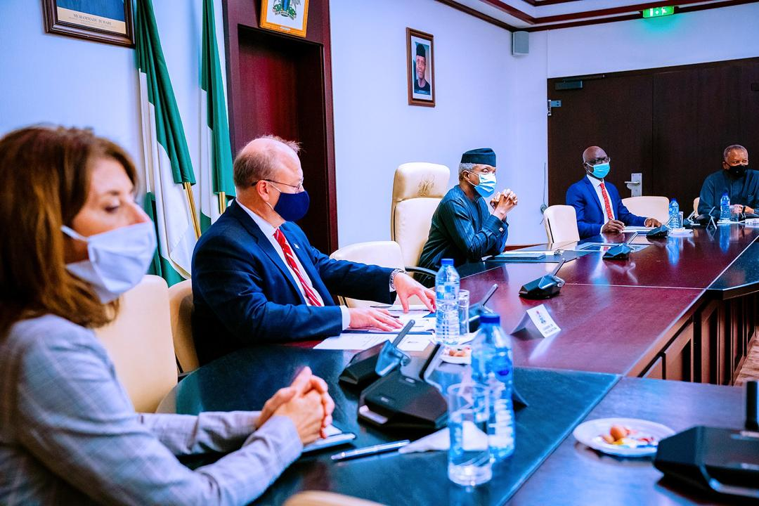VP Osinbajo Meets With American Government Delegation On 22/10/2020