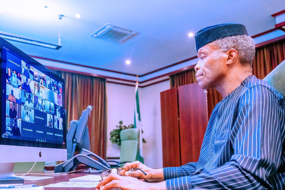 VP Osinbajo Presides Over Emergency National Economic Council Meeting On 26/10/2020