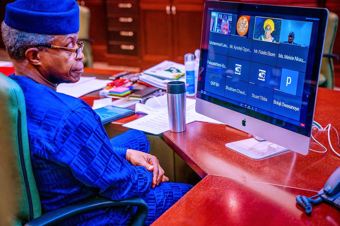 VP Osinbajo Declares Open Interactive Virtual Workshop Of The Office Of Auditor General On 12/10/2020