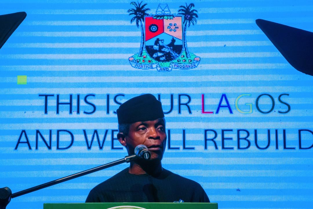 VP Osinbajo Attends The Launch Of Rebuilding Lagos Trust Fund On 16/11/2020