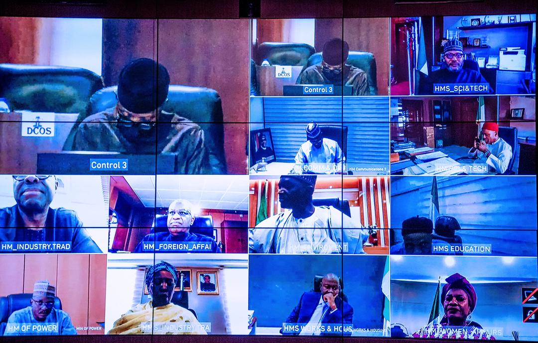 President Buhari Presides Over Virtual Meeting Of The Federal Executive Counil On 04/11/2020