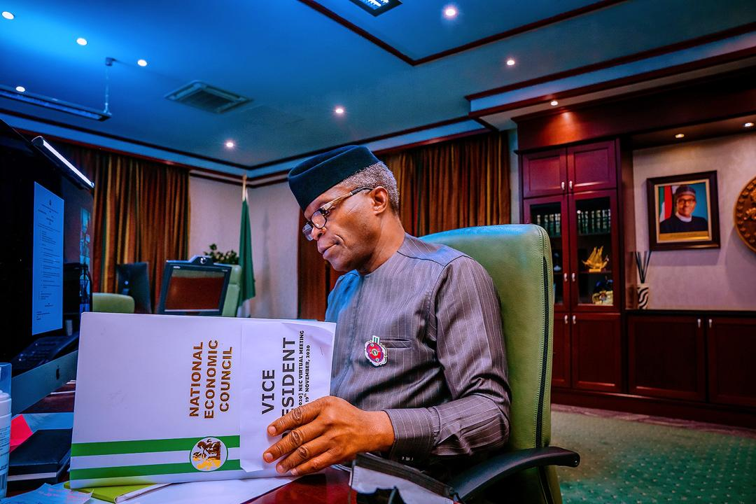 VP Osinbajo Presides Over Virtual Meeting Of The National Economic Council On 19/11/2020