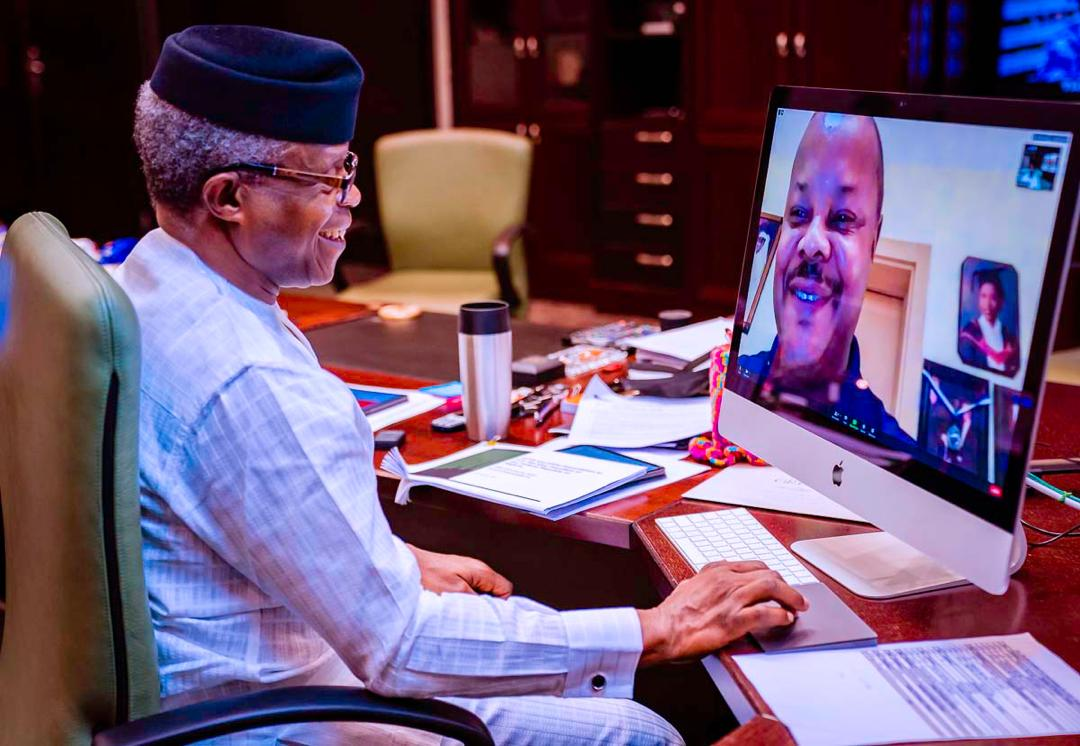 VP Osinbajo Holds Virtual Meeting With OPTS And IPPG Stakeholders On Petroleum Industry Bill On 13/01/2021