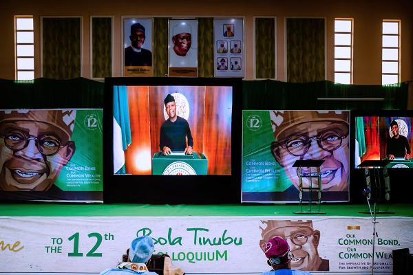 VP Osinbajo Delivers Virtual Remarks At 12th Bola Tinubu Colloquium On 29/03/2021