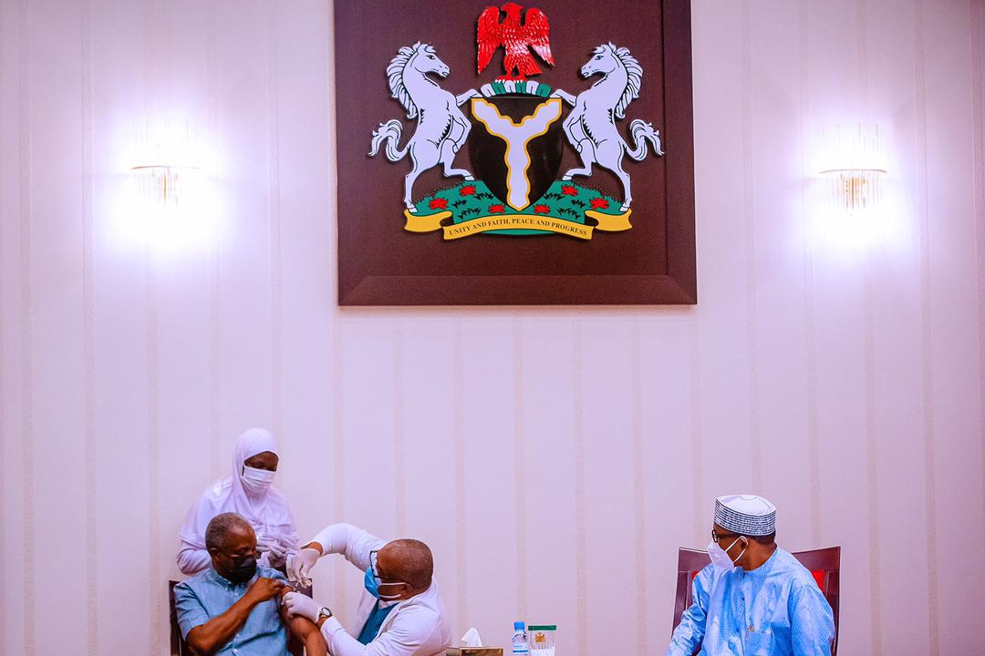 President Buhari & VP Osinbajo Receive AstraZeneca COVID-19 Vaccine On 06/03/2021