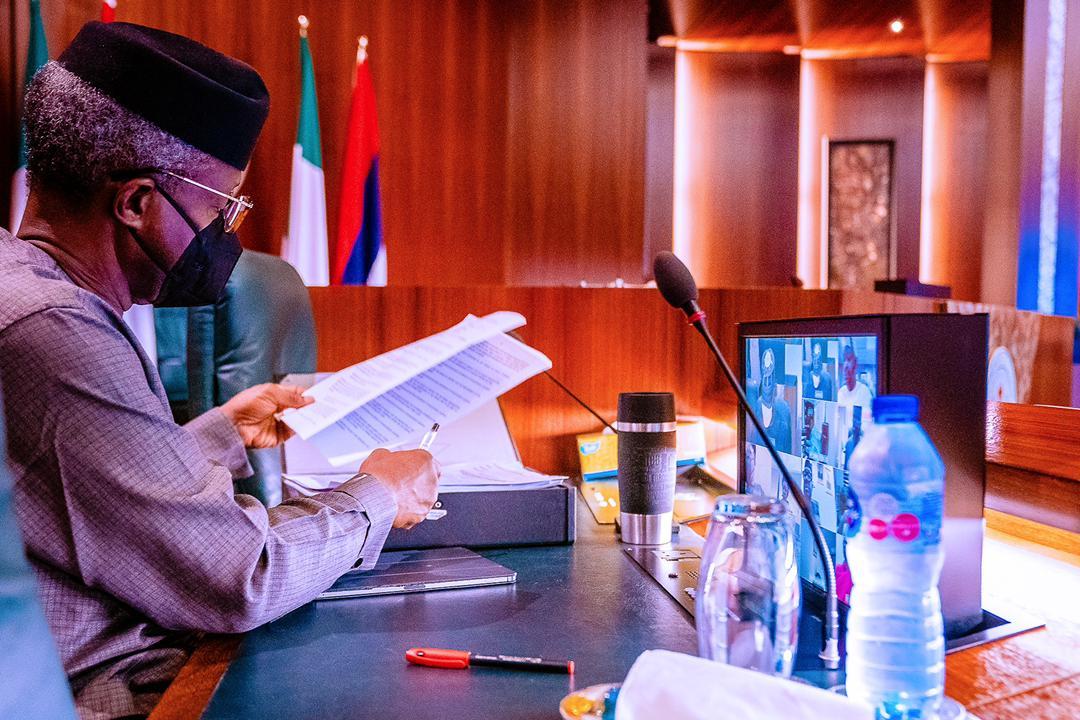 VP Osinbajo Presides Over Virtual Federal Executive Council Meeting On 31/03/2021