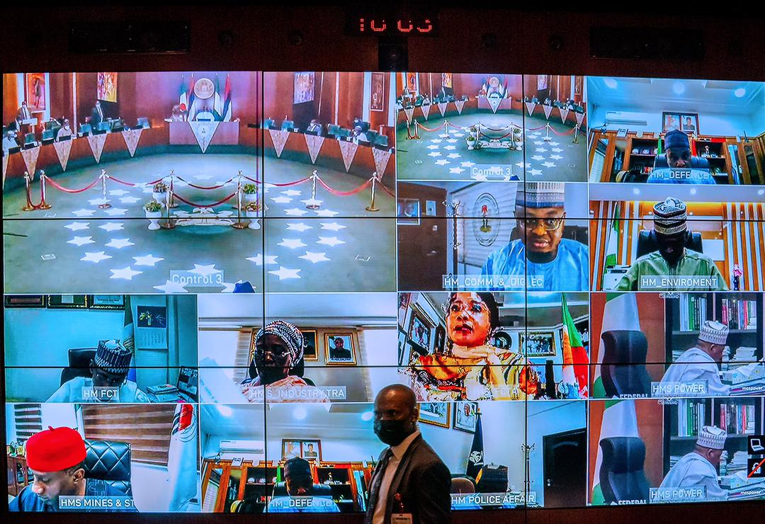 President Buhari Presides Over Virtual Meeting Of The Federal Executive Council Meeting On 17/03/2021