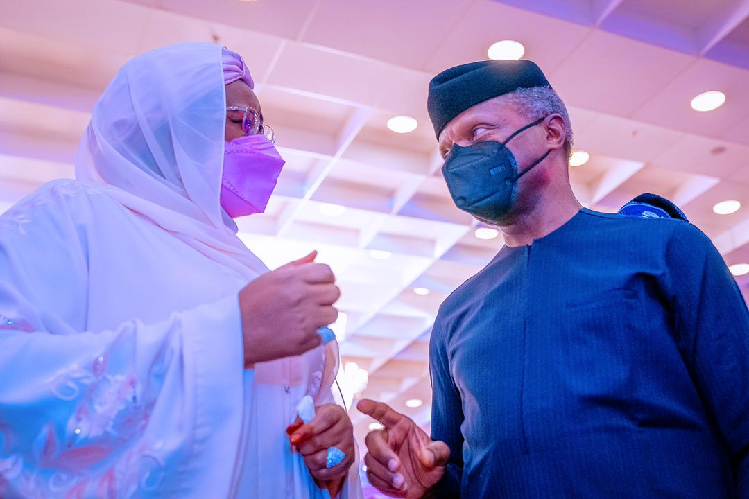 VP Osinbajo Attends Book Launch Of First Lady, Dr. Mrs Aisha Buhari On 08/04/2021