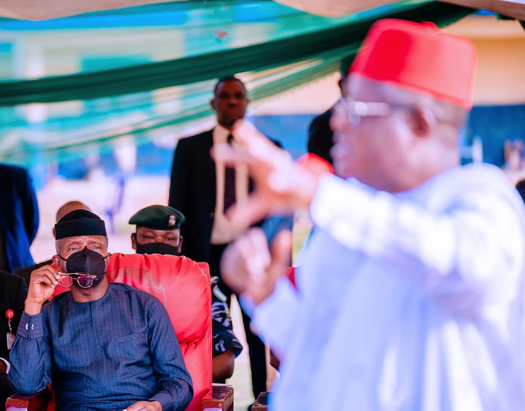 VP Osinbajo Visits & Engages With Members Of Egedege Community & Effium, Ohaukwu LGA , & Meets With Stakeholders In Ebonyi State On 04/04/2021