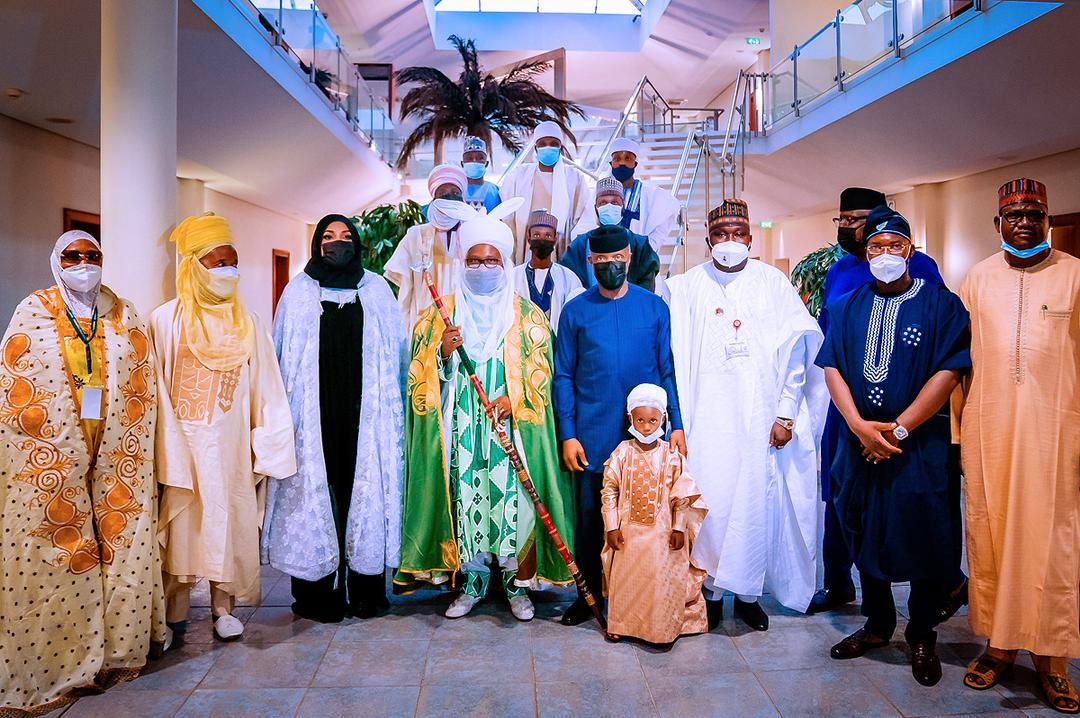 VP Osinbajo Receives Courtesy Visit From Emir Of Uke, Alhaji Dr. Ahmed Abdullahi Hassan On 26/04/2021