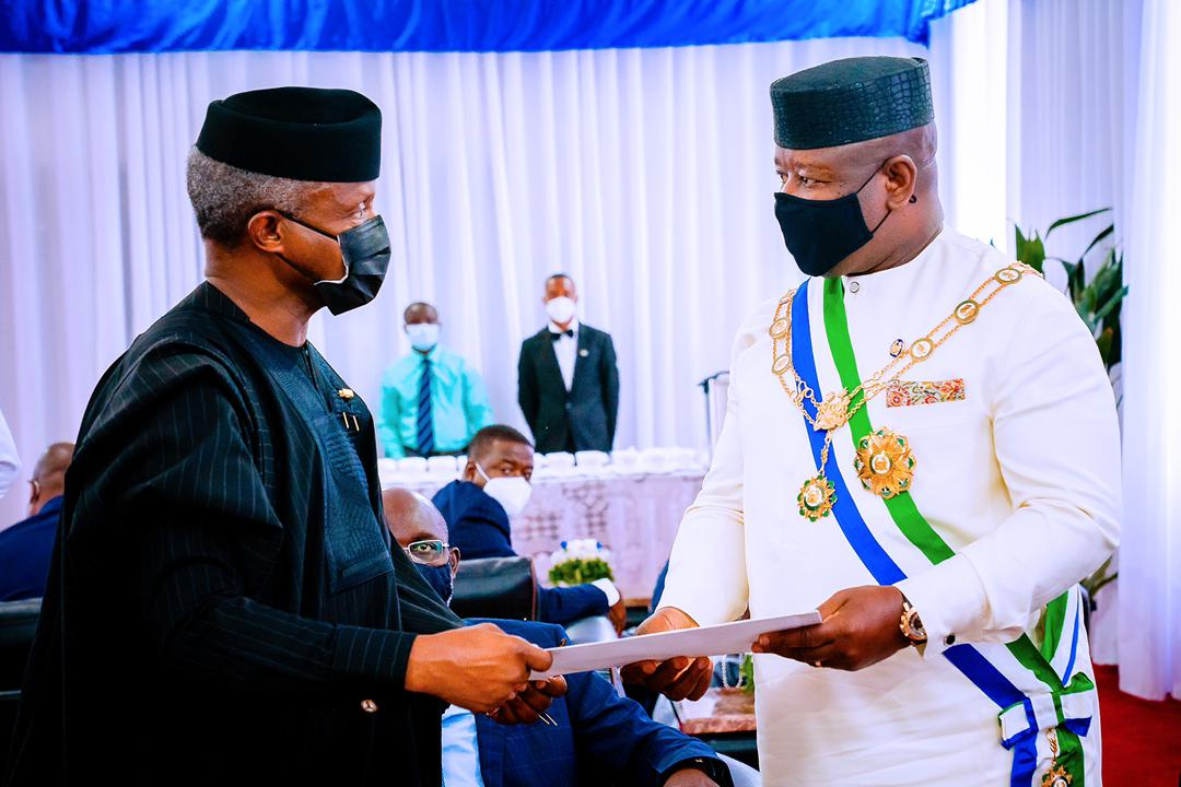 VP Osinbajo Represents President Buhari At 60th Independence Anniversary Of The Republic Of Sierra Leone In Freetown On 27/04/2021