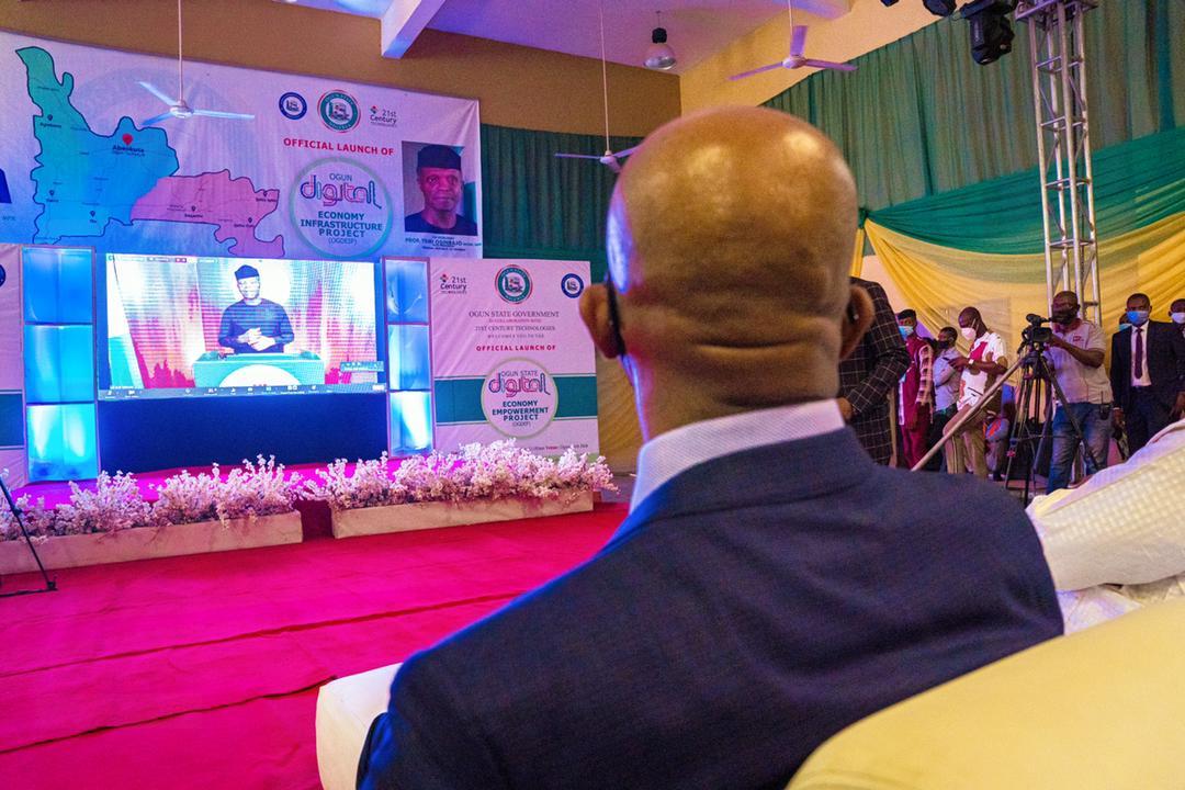VP Osinbajo Attends Virtual Launch Of Ogun State Digital Economy Empowerment Project On 15/04/2021