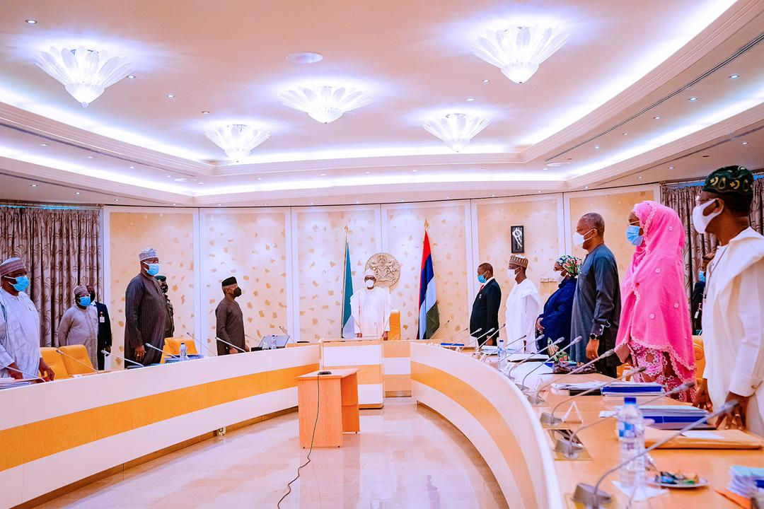 President Buhari Presides Over Virtual Federal Executive Council Meeting On 28/04/2021