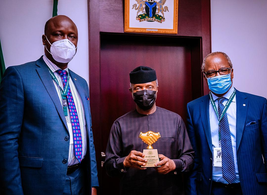VP Osinbajo Receives Courtesy Visit From Chartered Institute Of Personnel Management, CIPM, On 10/05/2021