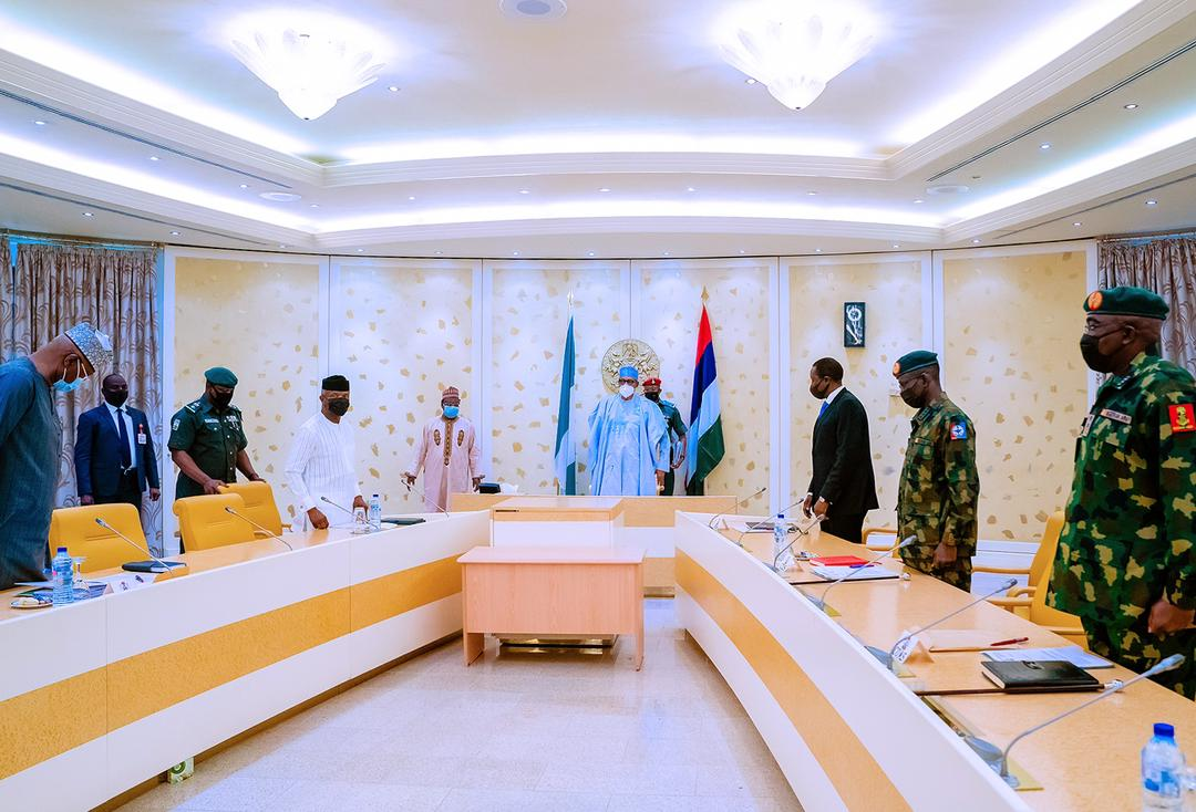President Buhari Presides Over National Security Meeting At State House On 04/05/2021