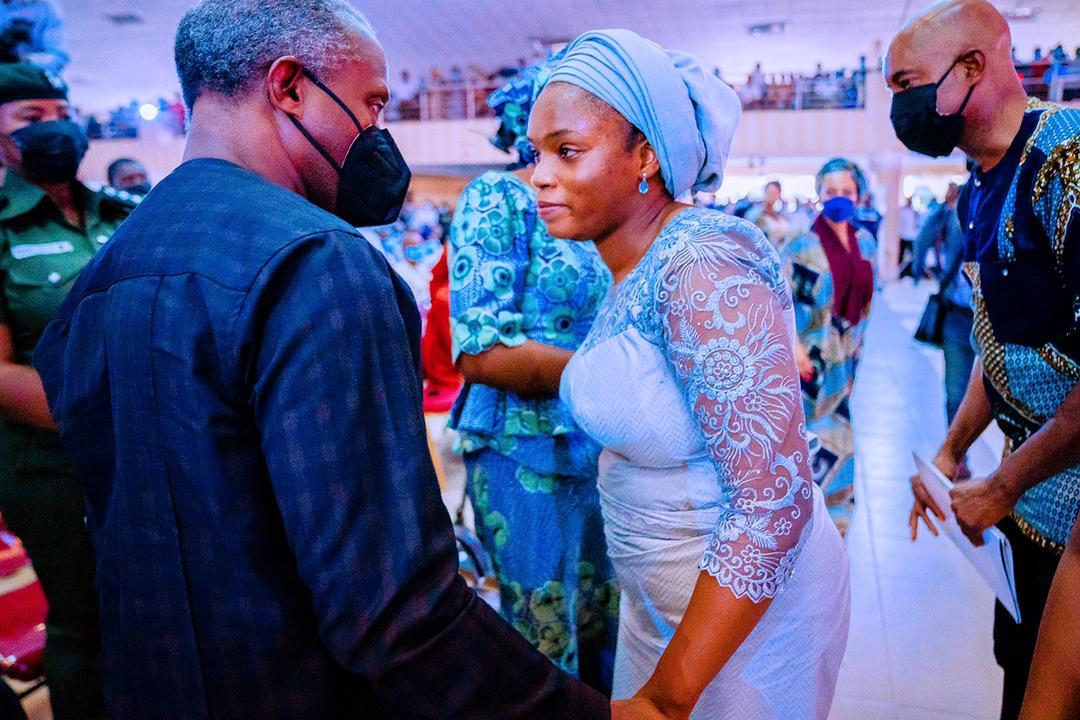 VP Osinbajo & Wife Attend Service Of Songs Honouring The Life Of Pastor Dare Adeboye On 10/05/2021