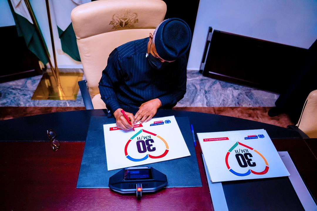 VP Osinbajo Launches The United Nations Decade Of Action On Road Safety On 18/05/2021