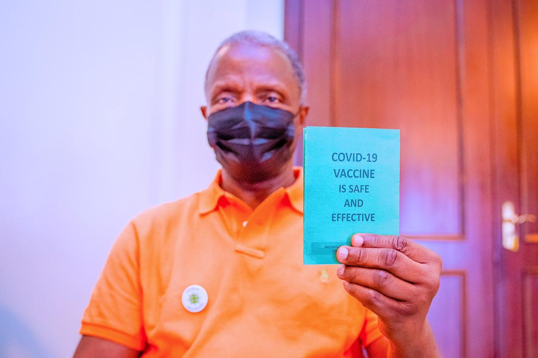 VP Osinbajo Receives The 2nd Dose Of The COVID – 19 Vaccine On 29/05/2021