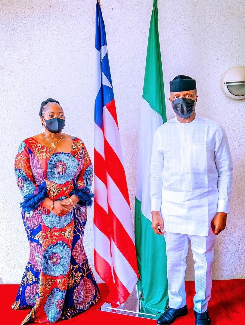 VP Osinbajo Receives His Liberian Counterpart, Chief Dr. Jewel Howard-Taylor On 28/05/2021