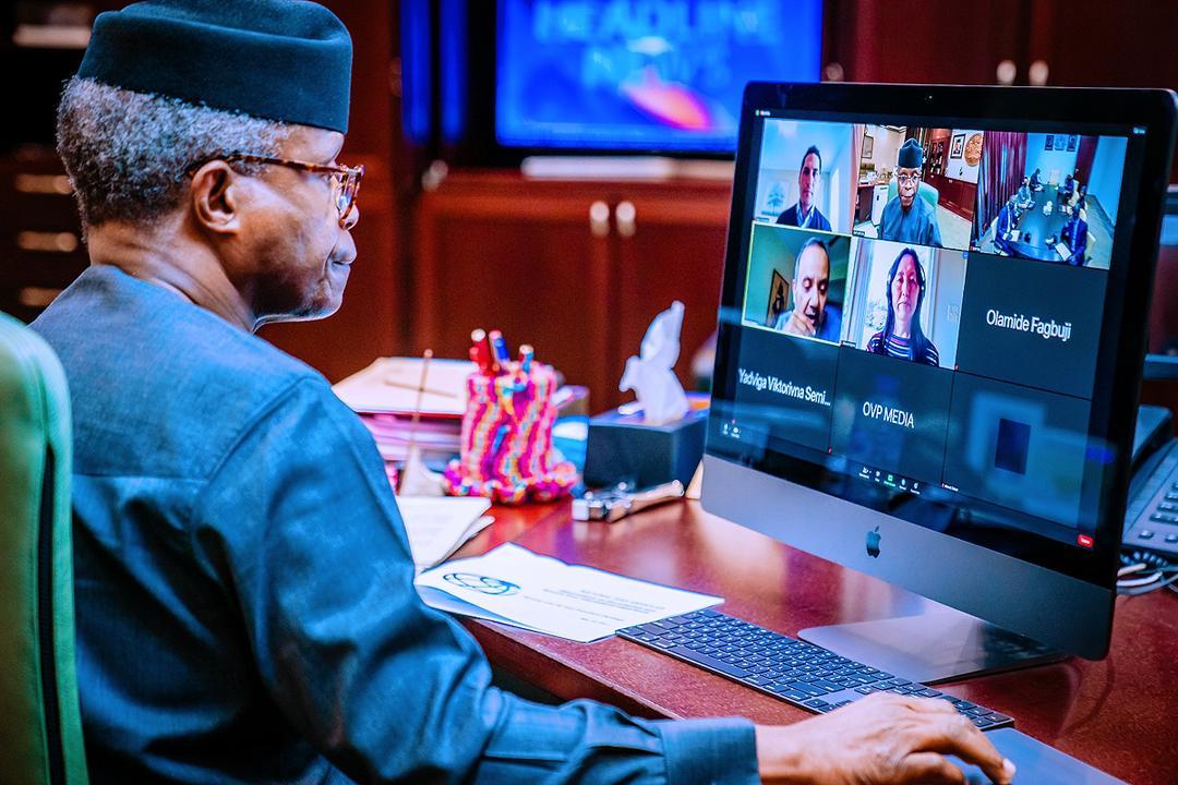 VP Osinbajo Holds Virtual Meeting With World Bank Representatives On 24/05/2021