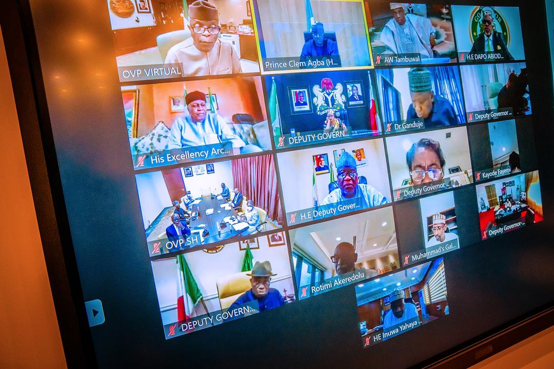 VP Osinbajo Presides Over Virtual National Economic Council Meeting On 20/05/2021