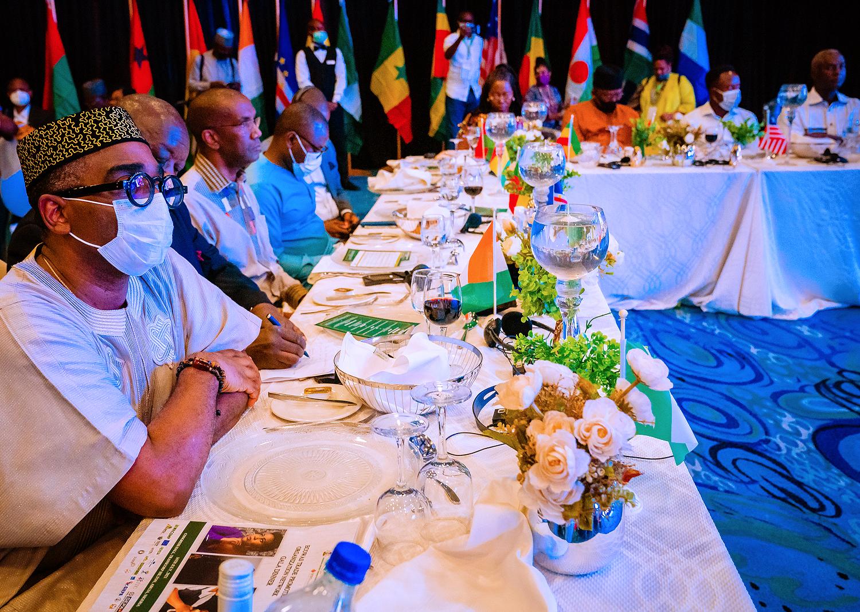 VP Osinbajo & Wife, Mrs. Dolapo Osinbajo, Attend ECOWAS TPO Network Dinner On 16/07/2021