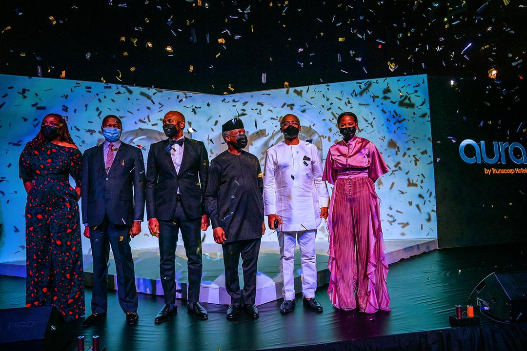 Osinbajo Harps On Reviving Economy In The Aftermath Of COVID-19 Pandemic At Launch Of Transcorp's New Product