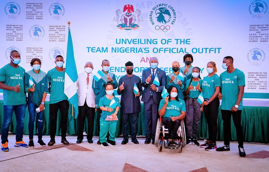 VP Osinbajo On Behalf Of President Buhari, Unveils Team Nigeria's 2020 Olympic Kit & Attends Send Forth Ceremony For Nigerian Athletes On 12/07/2021